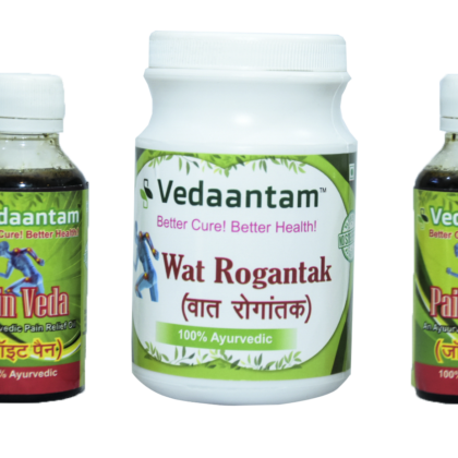 Vedaantam Pain Relief Oil and Powder Combo (200ml + 200gm)